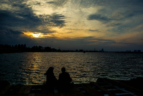 Sunset in Ancol, Jakarta
