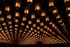 Ceiling Lanterns (stevech) Tags: japan hiroshima ceiling lantern orange temple