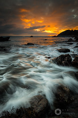 Feathered Waters (RTA Photography) Tags: meadfootbeach torquay devon southdevon southwest rtaphotography nikond750 nikkor1835 waves rocks sea sunset nature outdoors seascape whitewater motion longexposure sky clouds orange