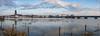 Stad aan het water (Hans van Bockel) Tags: 1680mm bolwerksweg bruggen d7200 hoogwater ijssel natuur natuurgebied nikkor nikon rivier water waterstand wilhelminabrug worp deventer overijssel nederland nl uiterwaarden stad stadsfront lebuinustoren pano panorama