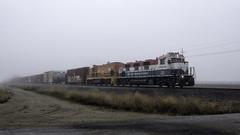 CFNR Rolling Through the Fog (lennycarl08) Tags: cfnr genset trains railroad train shortline gp151 california northerncalifornia sacramentovalley