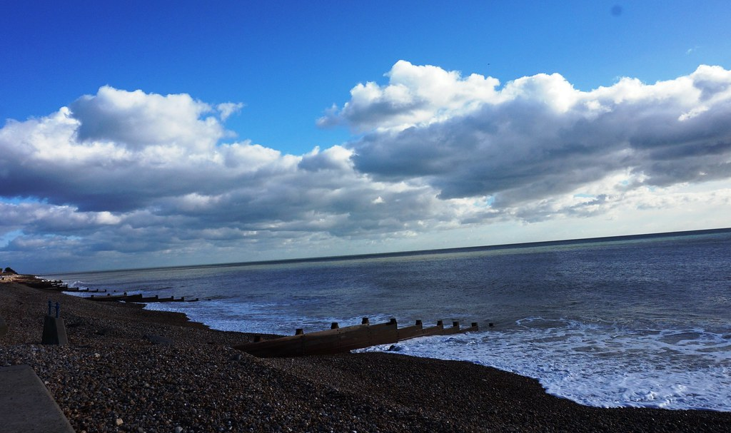 Clouds over Felpham Beach 1