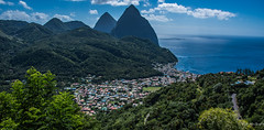 2017 - Regent Cruise - St. Lucia - The Pitons at Soufrière (Ted's photos - For Me & You) Tags: 2017 cropped nikon nikond750 nikonfx regentcruise stlucia tedmcgrath tedsphotos vignetting soufrière grospiton soufrieregrospiton grospitonsoufriere grospitonstlucia stluciagrospiton petitpiton soufrierepetitpiton petitpitonsoufriere petitpitonstlucia stluciapetitpiton soufrierestlucia mountains volcanicplug caribbean caribbeansea boats water bluesky blue unesco unescoworldheritagesite peaks