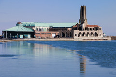 """The Carousel & The Old Steam Plant"""" (Photography by Sharon Farrell) Tags: asburypark asburyparknewjersey asburyparknj newjersey jerseyshore asburyparkboardwalk wesleylake reflections asburyparkcarousel asburyparksteamplant beauxartsarchitecture oceanavenue oceanavenueboardwalk vintageasburypark monmouthcounty monmouthcountynj monmouthcountynewjersey seasidevillage"""