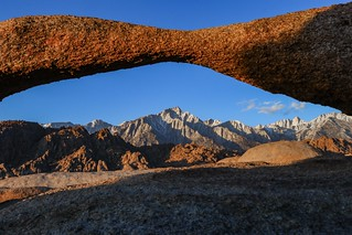 Lathe Arch, Lone Pine Peak, and Mount Whitney