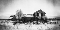 another winter takes hold..(at the brown farm-bow tie house) (Aces & Eights Photography) Tags: abandoned abandonment decay ruraldecay oldhouse abandonedhouse snow