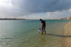 Rainy day in Dubai (domit) Tags: dubai uae rainy day thepalm atlantis beach isaac jay