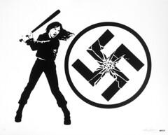 Smashing It! (Hutch.) Tags: screen print hutch smashingit screenprint antihate antinazi swastika hopenothate antiwhitesupremacy peace