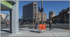 _DSC8362-aa (tellytomtelly) Tags: bellingham washington sign detour hockey rocket ufo city people sidewalk rocketship