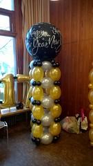 ballonpilaar happy New Year