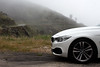 BMW 4series convertible in the Estrella Mountains in Portugal (OnTheRoadAgainBlog) Tags: bmw convertible 4er 4series fog mountains road portugal iberia wallpaper canon 700d
