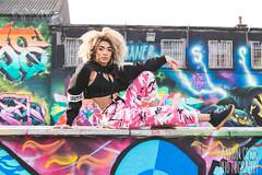 Erica Cody (Strangelove 1981) Tags: dublin ericacoady ireland plecpicks plecpicks2018 portrait musician singer tivoli carpark tivolicarpark irish strobist flashphotography graffiti art lightning