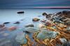 At dusk (allan-r) Tags: dusk sea waves rocks bolders grass yellow beach rocky water longexposure le gnd nd calm fuji xt2 xf1024mm