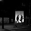 By crossing under 38 (pascalcolin1) Tags: paris13 nombre number porte gate nuit night homme man lumière light crossing croisement photoderue streetview urbanarte noiretblanc blackandwhite photopascalcolin canon50mm 50mm canon