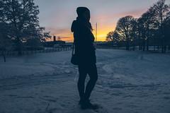 Silhouette (]vincent[) Tags: kristinehamn sweden sverige white snow trip xmas christmas market people us portrait self you beautiful girl ginger santa claus red river pretty varmeland värmeland sony rx 100 mk iv vincent dusk picasso statue