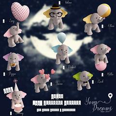 {YD}Elephant Puppies (*Your Dreams*) Tags: yourdreams newdecoration 100originalmesh elephants exclusive