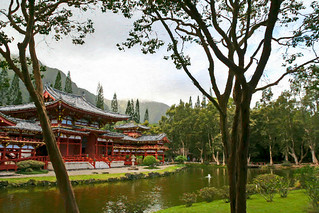 Byodo-In Temple Digital Painting