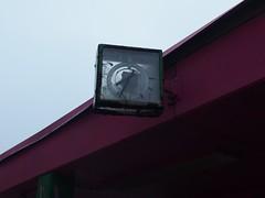 7:34 for ever (mkorsakov) Tags: dortmund city innenstadt unionviertel uhr clock 734 defekt damaged minimal grün green pink transparent diagonale