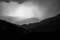 rainstorm in the mountains
