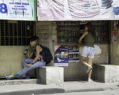 Soft Drink (Beegee49) Tags: street teens boy girl filipina mountain dew soft drink bacolod city philippines