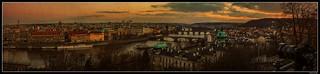 Panorama_Praha - Prague_Vltava river_Prague bridges_Czechia