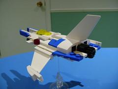 DSC09162 (TekBrick) Tags: lego custom moc vivviper gradius spaceship vic viper konami video game brick scifi prototype 3 space small