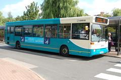 Arriva Dennis Dart SLF 2206 P206HRY - Nuneaton (dwb transport photos) Tags: arriva dennis dart plaxton pointer bus 2206 p206hry nuneaton