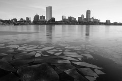 Back bay ice (ewan.osullivan) Tags: bw ice river boston charles charlesriver reflection blackandwhite monochrome winter
