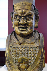 DSC_9473 The British Museum London Chinese Asian Display Gilt Bronze Head of a Buddhist Guardian Figure 14th Century Chinese Yuan Dynasty (photographer695) Tags: the british museum london chinese asian display gilt bronze head buddhist guardian figure 14th century yuan dynasty