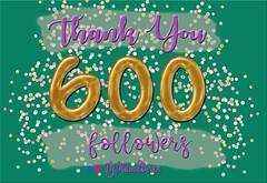 Thank You (hunnibear86) Tags: thankyou gratitude followers confetti 600followers caligraphy script goldfoil balloons gold cursvie thanks
