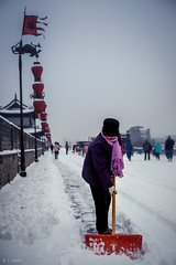 Hard Work (tsoeiro) Tags: ifttt 500px frozen winter cold woman snow work worker snowfall cleaning pathway shovel weather coat warm clothing shoveling