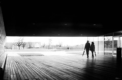 Better walk together (René Mollet) Tags: vitra together walking walk rain street streetphotography shadow silhouette streetart streetphotographiebw renémollet urban urbanstreet blackandwhite bw