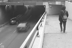Black & White (kshitij.lawate) Tags: chicago instachicago oak street beach lakeshore okatstreet oakstreet lights illinois usa 2018 winter blackandwhite white black fast slow walking subway cars shutter slowshutter
