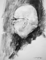 P1017586 (Gasheh) Tags: art painting drawing sketch portrait man charcoal pencil gasheh 2018