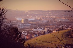 Evening light (DrQ_Emilian) Tags: sunset sun sunlight sunshine light colors details evening mood landscape view hill vineyards town city cityscape visit travel outdoors grabkapelle stuttgart badenwürttemberg germany europe buildings photography hobby nikon d5100 urban