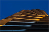 Rising sun (Ulrich Neitzel) Tags: architektur gebäude hafencity hamburg marcopolotower olympusem1 abstract architecture aufwärts building curves mzuiko1240mm sky sunlight sunrise upwards sunlit