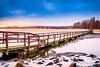 The sea is freezing (Joni Salama) Tags: meri vesi luonto tarvo jää talvi silta espoo suomi arkkitehtuuri uusimaa finland fi water sea nature landscape seascape ice bridge