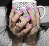 Coffee or Nah (derrickjames2) Tags: handmodel haveadrink tea cupofjoe coffee derrickjamesphotography