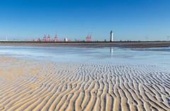 New Brighton (Philip Brookes) Tags: sand lighthouse wirral merseyside uk england shore docks reflection liverpool newbrighton
