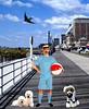 by the sea (ladybumblebee) Tags: seaside digitalcollage collage digitalart art atlanticcityboardwalk boardwalk