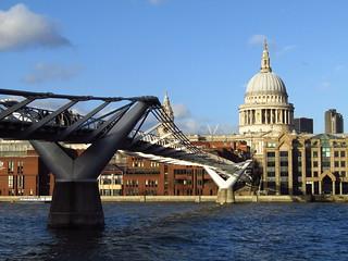 Millenium Bridge & St Paul's Cathedral, London