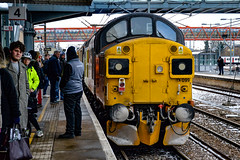 37099 + 37421 - Cambridge - 01/03/18. (TRphotography04) Tags: colas rail freight 37099 merl evans 1947 2016 37421 stand cambridge with 1z98 1305 london liverpool street derby rtcnetwork didnt get shot because i arrived they were pulling away from station