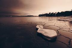 The Island (Bunaro) Tags: uutela vuosaari aurinkolahti helsinki finland suomi myhelsinki visitfinland nature landscape winter ice sea water snow rafts fragile night seacape darkness