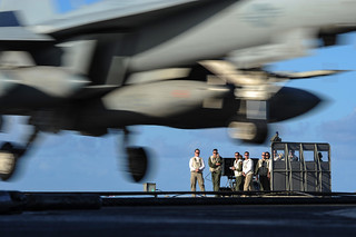 USS Harry S. Truman conducts flight operations.