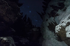 (cec403) Tags: night stars longexposure icewalk winter waterfall frozen hike bowvalleyparkway banffnationalpark alberta canada canont4i