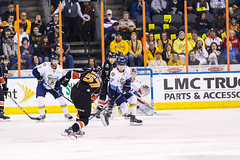 """Kansas City Mavericks vs. Toledo Walleye, January 20, 2018, Silverstein Eye Centers Arena, Independence, Missouri.  Photo: © John Howe / Howe Creative Photography, all rights reserved 2018. • <a style=""""font-size:0.8em;"""" href=""""http://www.flickr.com/photos/134016632@N02/39839488891/"""" target=""""_blank"""">View on Flickr</a>"""