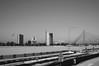 Riga Riverside Mono (tamasmatusik) Tags: latvia latvija riga daugava westerndvina river riverside frozen winter snow city cityscape blackandwhite monochrome bw feketefehér lettország lettland building noiretblanc sony sonynex nex6 30mm sigma sigmalens milc