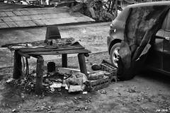 the car repair shop (P. Marione) Tags: cameroun africa afrique pm marione nikon d810 raw black noir zwart schwarz negro white blanc wit weiss blanco blackandwhite noiretblanc zwartenwit monochrome bw nb zw mono blackwhite noirblanc zwartwit bandw netb zenw schwarzweiss negroblanco streetscene scene streetpix street rue straat strase calle streetart citylife city urban ville