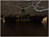 The waters of the Seine — BATOFAR 01 (michelle@c) Tags: seine fleuve river riverside crue inondation flood fireboat performance hall lighthouse tree night quay 2018 parisxiii michellecourteau