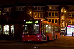 Go-Ahead London General, Route 299 Blind Change, Muswell Hill (LFaurePhotos) Tags: londonbynight blindchange bus goaheadlondon lfaurephotos london muswellhill northlondon route299 route646 sen20 yx11agu